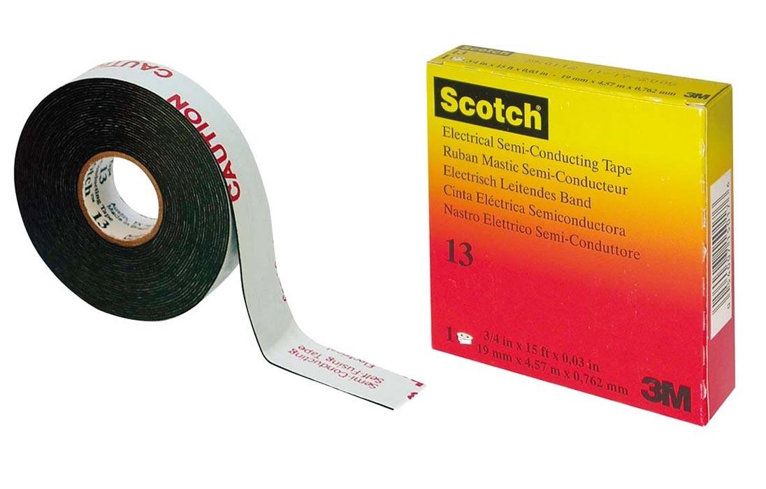 Scotch 13 резиновая лента 19мм 4,5м