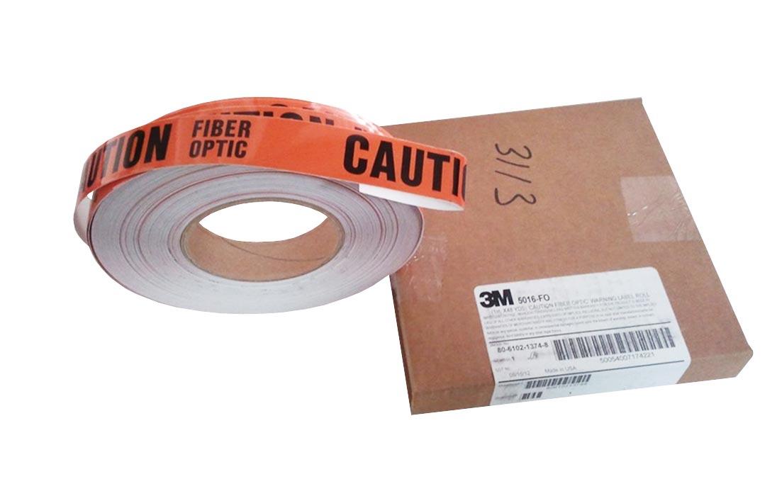 5016-FО Предупреждающая наклейка 25ммх4,39м